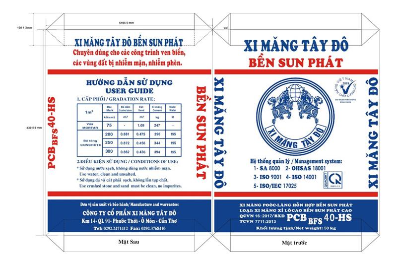 XI MĂNG BAO TÂY ĐÔ BỀN SUN PHÁT BFS40-HS